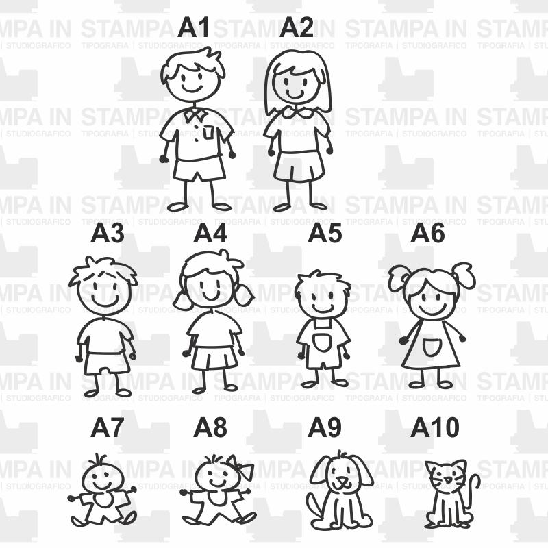 Adesivi Famiglia Stickers